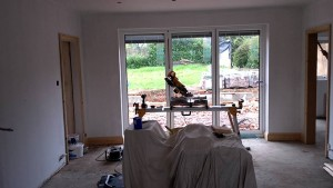 The inside 2nd fix carpentry is ongoing and soon the kitchen company arrives.