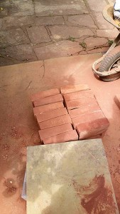 These bricks are tapered ready for the cut arch. These are often bought ready made on large projects.