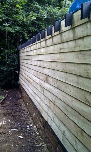 The rear wall of the barn before it was painted.