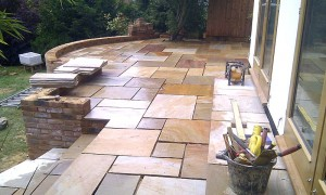 Now the patio has been altered and brickwork made higher ready for the stone work to be started