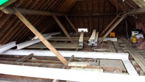 A lot of steel work goes into creating this loft. Usually only three steels are needed.