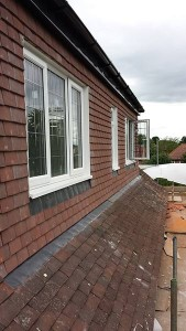The completed dormer.