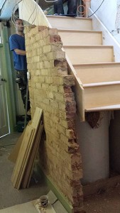 The stair case was cleverly made between the cylinder cupboard. Meaning that no rooms were sacrificed to gain access to the loft.