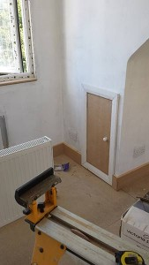 Useful cupboard space in the other bedroom.