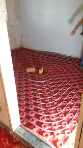 This what under floor heating looks like.